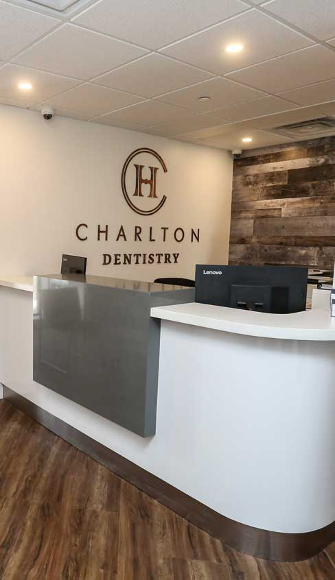 Charlton Dentistry Reception Area